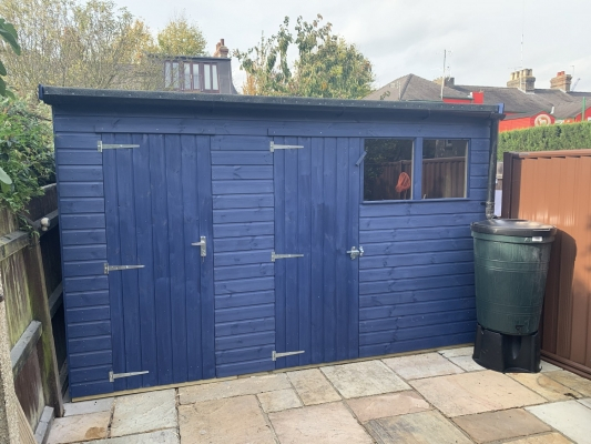 Partitioned Storage and Bike Shed