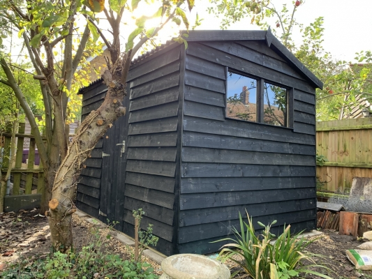 Black Barn Style Shed