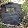 Black Barn Style Shed Windows